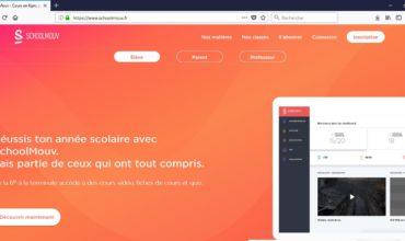 SchoolMouv, cours en ligne pour le collège et le lycée