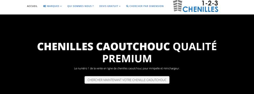 Des chenilles en caoutchouc sur 123chenilles.fr