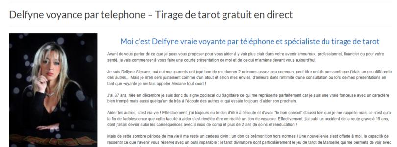 Voyance Delfyne, consultation de tarot gratuit par téléphone