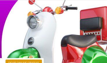 Assurance scooter de livraison pizza