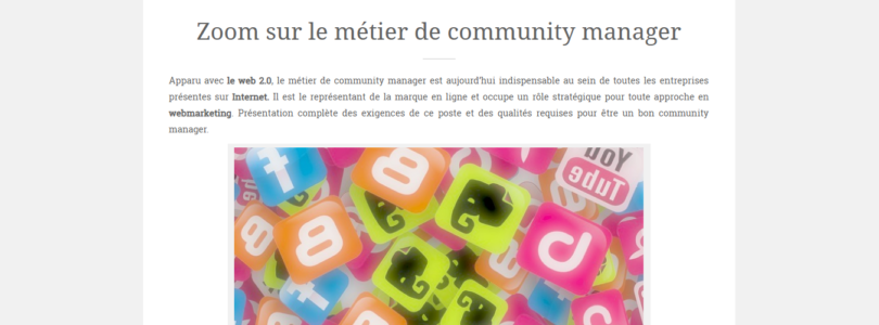 Devenir Community manager