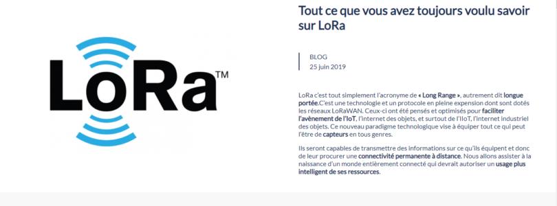 Tout savoir sur LoRa