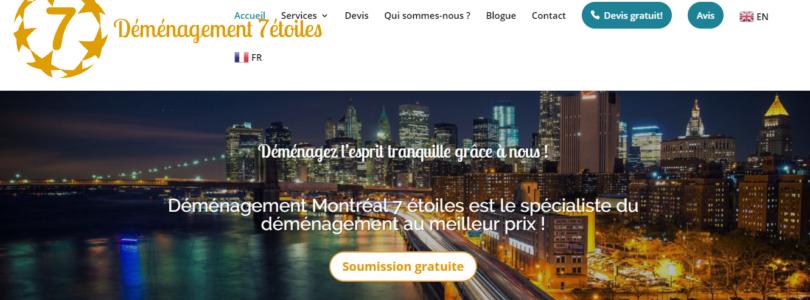 Déménagement Montréal 7 étoiles