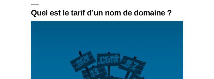 Les coûts du web sur Antaud.fr