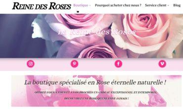 Boutique de vente des roses éternelles naturelles