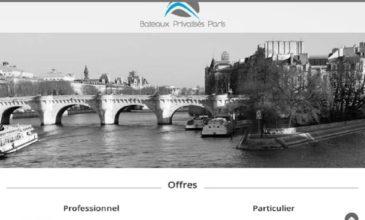 Les prestations de Bateaux Privatisés Paris
