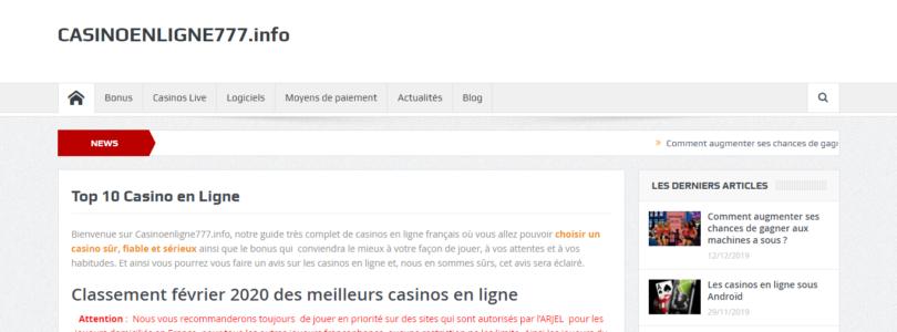 Classement des meilleurs casinos en ligne