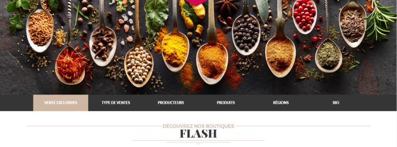 Plateforme de vente événementielle de produits fins et gourmet