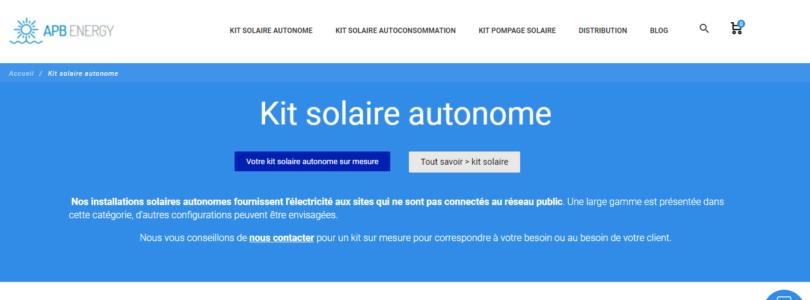 Le kit solaire autonome pour les sites isolés